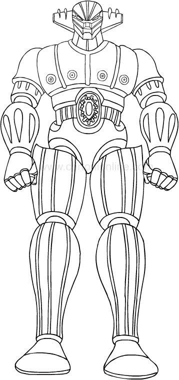 Disegni Da Colorare Jeeg Robot D 039 Acciaio Disegni Da