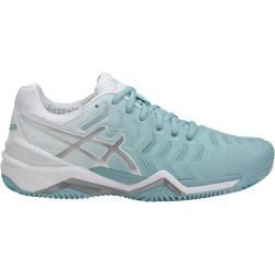 Asics Gel Resolution 7 Clay 2018 mint/weiss Tennisschuhe ...