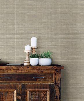 Wallpops Zulily Nuwallpaper Peel And Stick Wallpaper Grasscloth