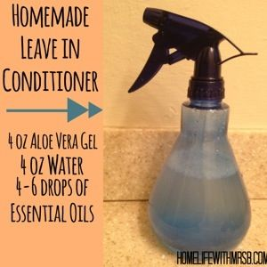 """tons of awesome natural uses for aloe vera, plus a leave-in conditoner recipe with essential oils.   from """"Home Life with Mrs. B"""""""