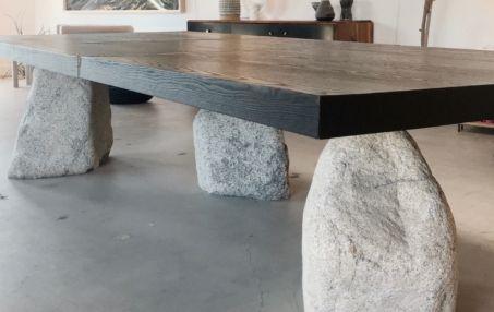 S B Bespoke Boulder Dining Table, Boulder Outdoor Furniture