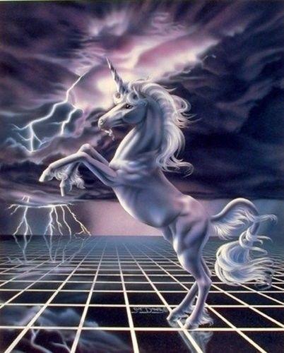 White Lightning Mythical Rearing Unicorn Horse Wall Decor Art Print Poster 16x20 Unicorn Art Unicorn Artwork Unicorn Pictures