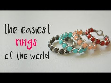 DIY How to make a braided wire rings. wire wrapping foe begginers Source by lisamozdzien Related posts: 5 DIY Easy Rings – Braided & No Tools! Make these DIY Mini Beaded Rings in just minutes over on 5 DIY Rings EASY & Adjustable! How To Make a Ring Diy Jewelry Rings, Ruby Jewelry, Copper Jewelry, Jewelry Crafts, Jewelry Making, Jewellery Box, Ring Making, Jewlery Making For Beginners, Jewelry Hanger