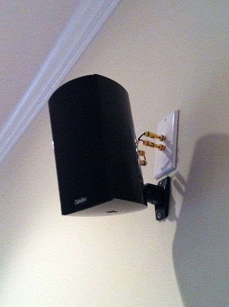 Speaker Wall Mounts Home Theater Setup, Wall Mounted Surround Sound System
