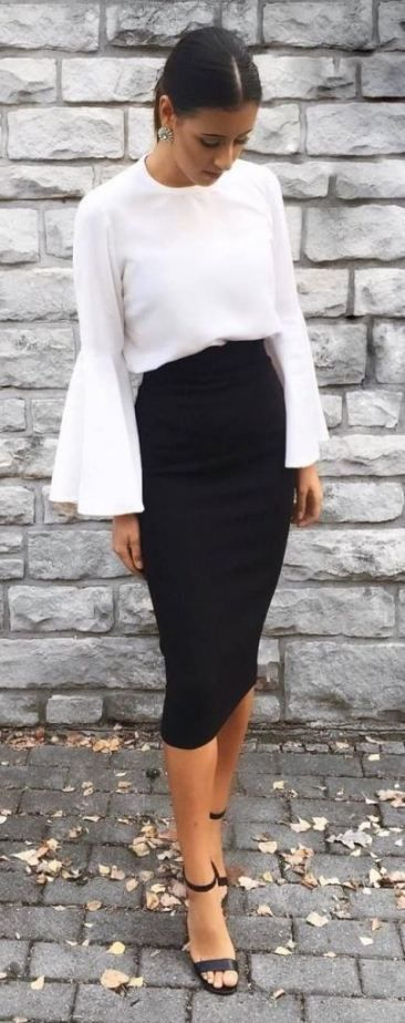 46+ Black knee length skirt ideas ideas