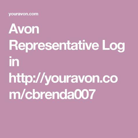 Avon Representative Log In Http Youravon Com Cbrenda007 With