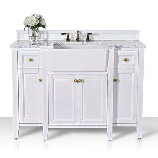 Ancerre Designs Adeline Vanity Set White 48 Inch Single Sink