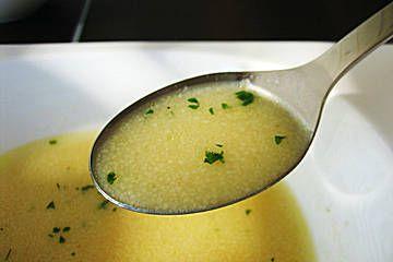 Gebrannte Griess-Suppe! Sehr lecker!
