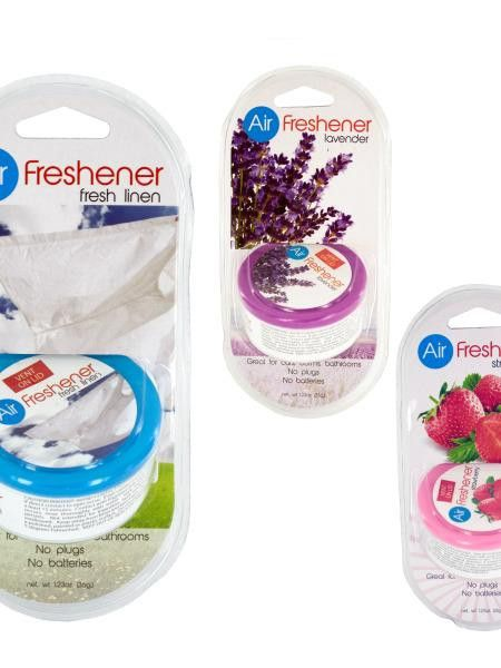 Gel Air Freshener with Vented Lid (Available in a pack of 24)
