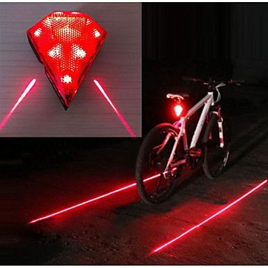 Bike Cycle MTB USB Rechargeable Flash Rear Tail LED Laser Light Lamp Waterproof
