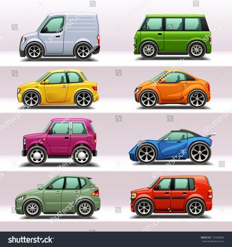 car icon set-4   Автомобили, Набор значков