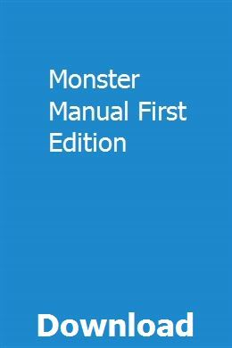 Monster Manual First Edition Manual Chevrolet Orlando Holden Caprice
