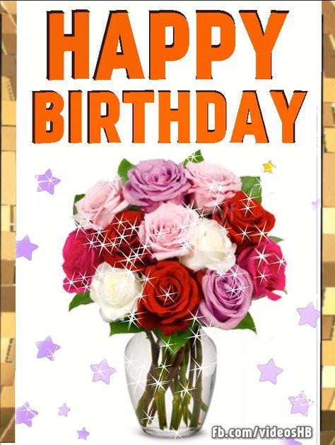 #Happy #Birthday, roses in vase
