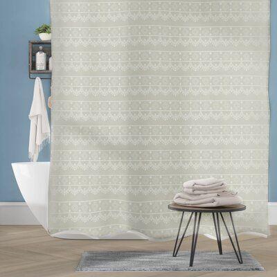 Bungalow Rose Camile Geometric Lace Single Shower Curtain Color