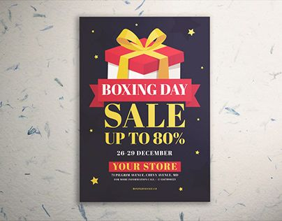 Check Out New Work On My Behance Portfolio Boxing Day Sale Flyer Vol 02 Http Be Net Gallery 73605367 Boxing Day Sale Flyer V Sale Flyer Flyer Boxing Day