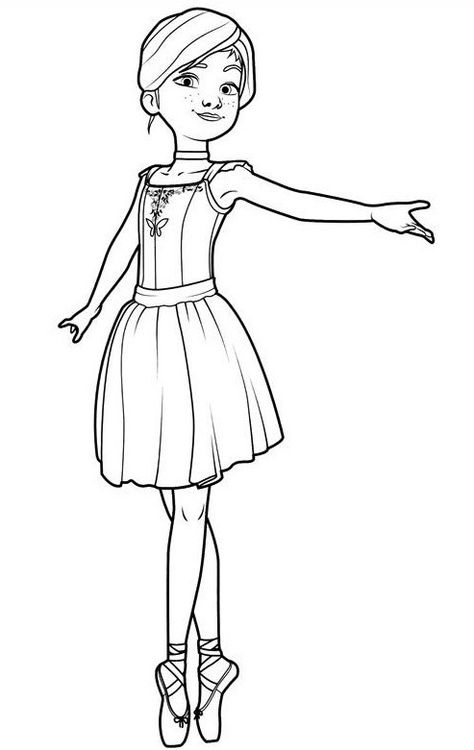 Dancing Girl Printable Coloring Page Free To Download And Print