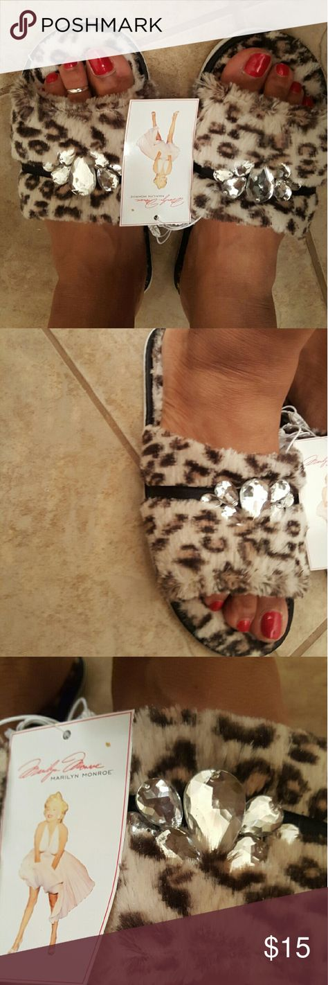 035d69e90cb88 Marilyn Monroe Leopard Slippers! Super cute and comfy. Embellisments set  them apart!! Two available
