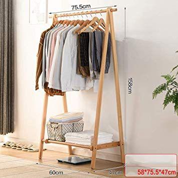 Holz Kleiderstander Mit Regalen Haus Dekoration Kleiderstander Holz Kleiderstander Regal Hauser