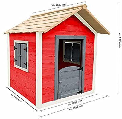 Home Deluxe Spielhaus Aus Holz Fur Kinder Umweltfreundliches Kinderspielhaus Das Kleine Schloss 101 X 106 X 128 Cm Spielhaus Aus Holz Spielhaus Haus
