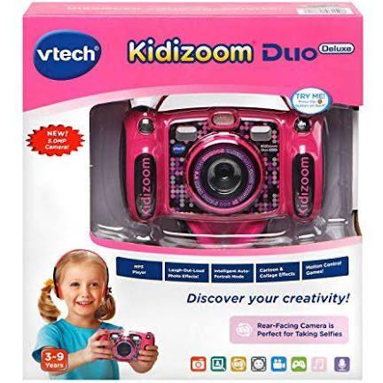 Vtech Kidizoom Duo 5 0 Deluxe Digital Selfie Camera With Mp3 Player Headphones Vtech Camera Digital