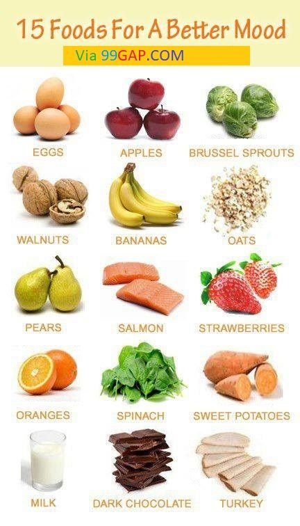Top 15 Foods For Better Mood #easyrecipe | Healthy | Foods for