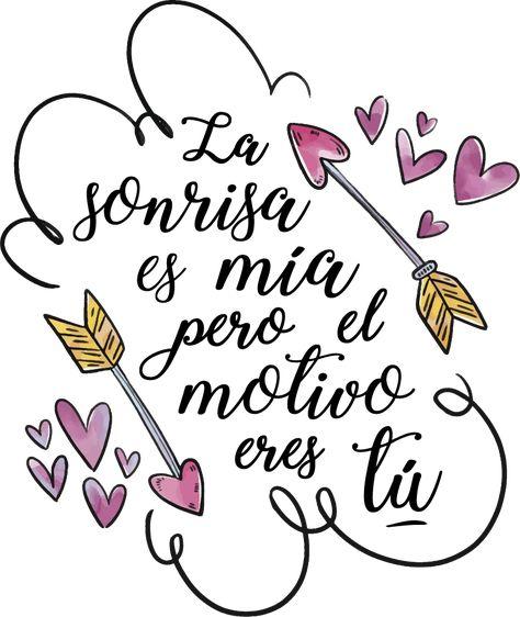 Vinilo frase de San Valentín - TenVinilo