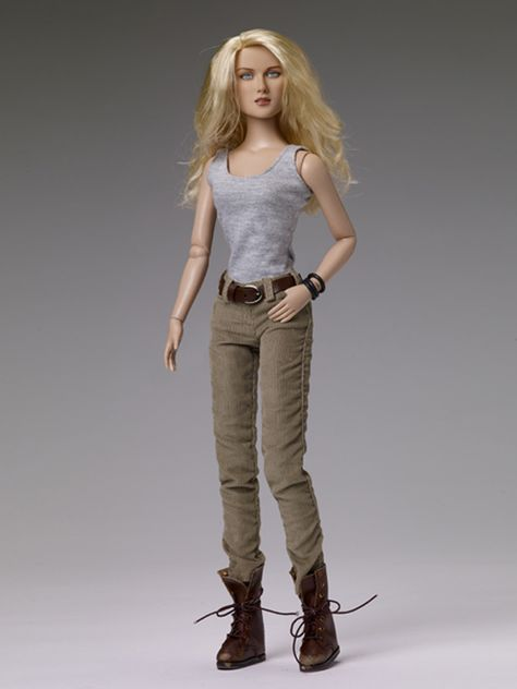 TOP  BARBIE DOLL MATTEL TOMB RAIDER LARA CROFT KHAKI TANK TOP SHIRT ACCESSORY