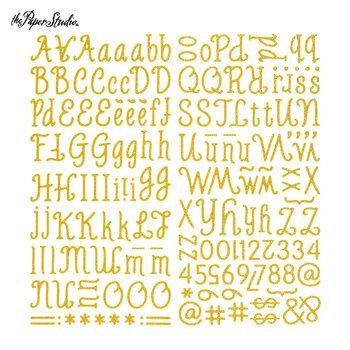 Gold Glitter Mozzarella Alphabet Stickers Alphabet Stickers Glitter Letters Fun Stickers
