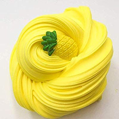 Yellow Butter Clay Slime 8oz Fluffy Floam stretchy Sensory Toy Stress Relief