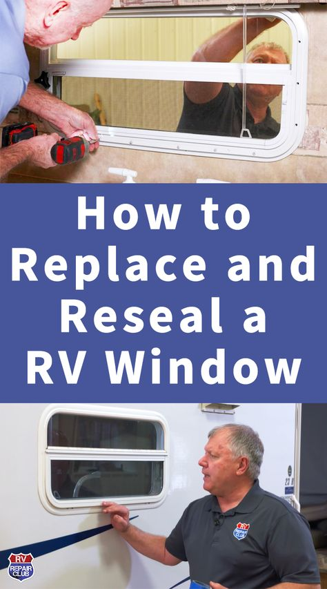 In this expert video lesson, our experts demonstrate the process of RV window replacement and resealing for when one of your windows has a moisture problem. Rv Camping Tips, Travel Trailer Camping, Travel Trailer Remodel, Camping Ideas, Rv Tips, Family Camping, Camping List, Camping Products, Camping Essentials