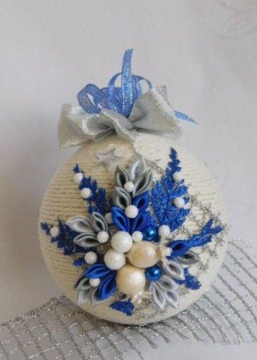 Piekna Bombka Sznurkowa Boze Narodzenie Rekodzielo 7596494114 Oficjalne Archiwum Allegro Christmas Crafts Shabby Christmas Christmas Ornaments
