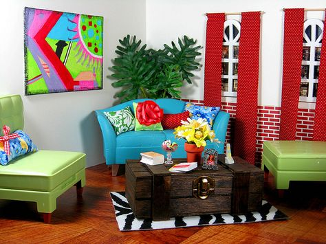 3 great dollhouse interior inspirations