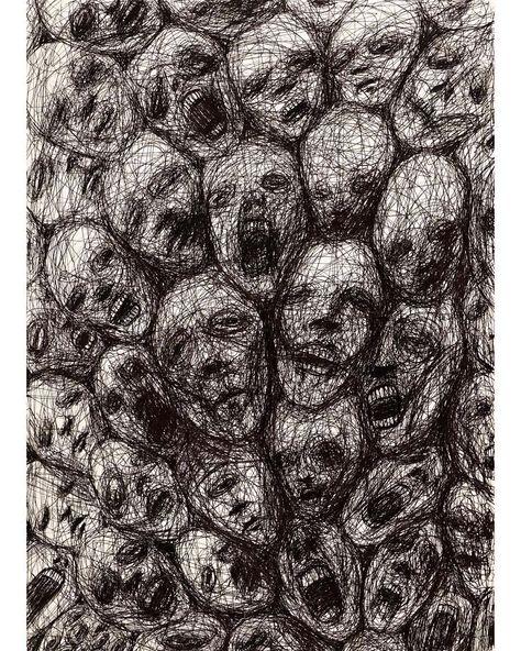 """ناجي شلهوب Naji Chalhoub on Instagram: """"Ink on 42x30cm paper Works are available unless stated otherwise.  DM or email me for enquiry - #art #artwork #arte #illustrate…"""""""