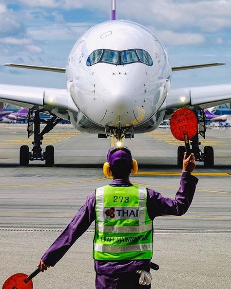 Thai Airways A350 Approaching The Hangar Aviation Inspired Products Available At Airportag Com Shot By Kongsoi Aviation Jet Aircraft Thai Airways