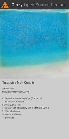 Nepheline Syenite 62 Strontium Carbonate 21 Silica 8 Kentucky Om