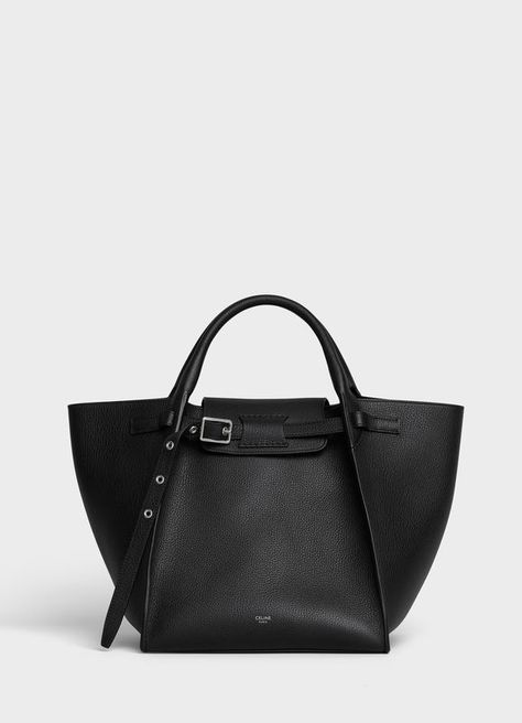 Small Big Bag with long strap in supple grained calfskin | CELINE - see large version in the first place