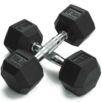 Weider Rubber Hex Dumbbells Weights