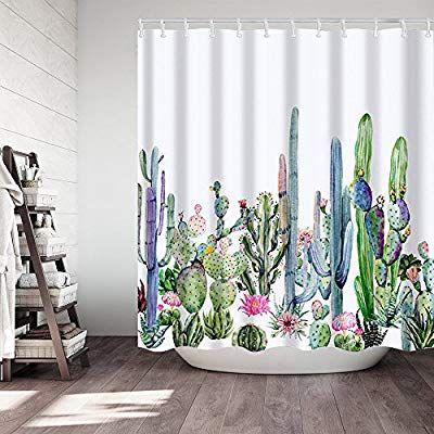 Amazon Com Didihou Tropical Plants Cactus Floral Polyester Fabric