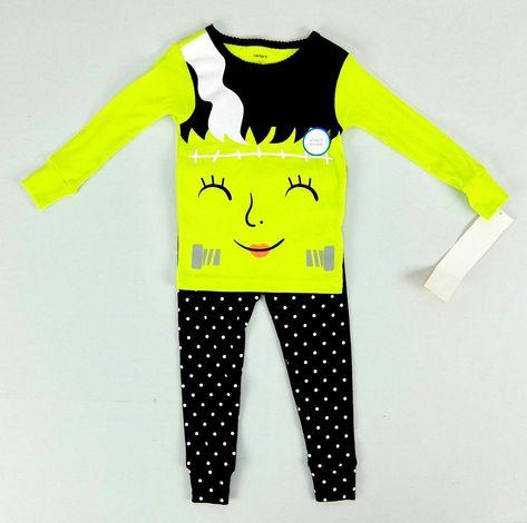 7d736b09c Carters Girls Glow in the Dark Halloween Pajamas Set Size 24 months #Carters  #TwoPiece