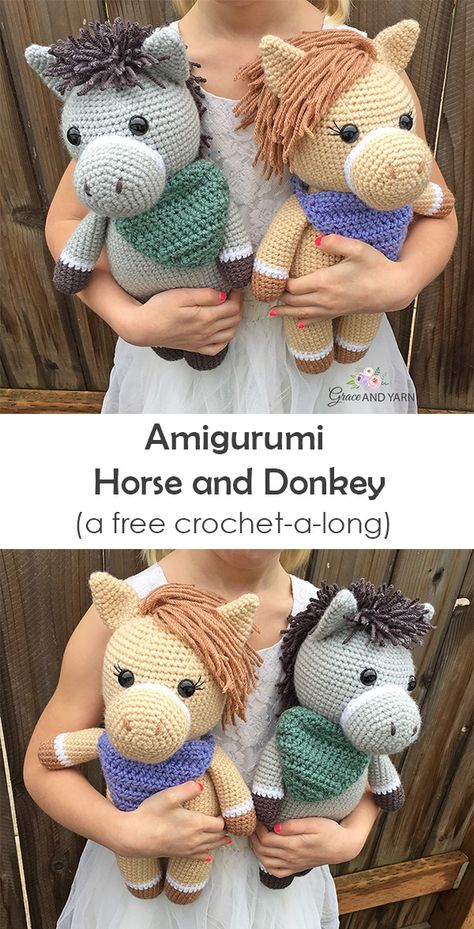 Join us for a fun and free CAL (crochet-a-long) to make these sweet farm friends! There will be step-by-step instructions with helpful photos along the way, a fun pattern for all skill levels!