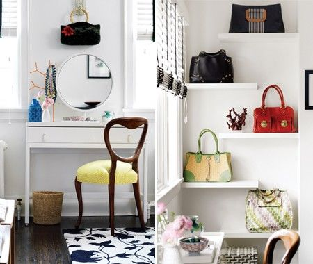 Photo Gallery: Stylish Family Home Makeover | Yellow Fabric, Vignettes And  Purses