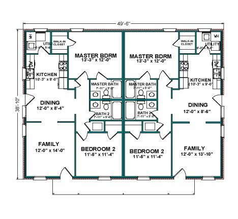 Duplex 3 Bd Floor Plan Places to Visit