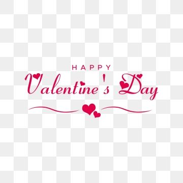 Transparent Background Happy Valentines Day Banner Png