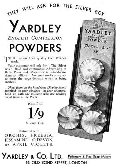 1932 Yardley English Complexion Powder Trade