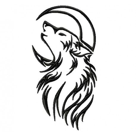 Wolf Moon Tattoo In 2020 Wolf And Moon Tattoo Tribal Wolf Tattoo Simple Wolf Tattoo