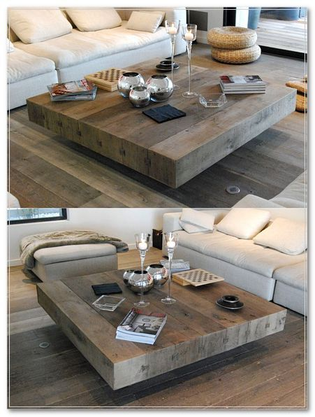 34 Diy Rustic Wood Furniture Ideas Square Wooden Coffee Table Coffee Table Wood Table Living Room