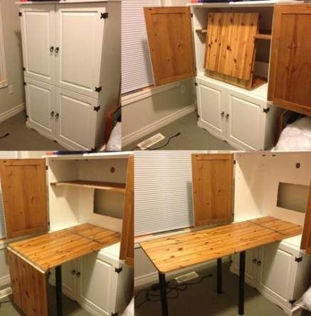 Sewing Armoire Idea For Fold Out Table - Perfect For My Crafts And . Sewing armoire idea for fold out table - perfect for my crafts and craft armoire with fold out table diy - Diy Craft Table