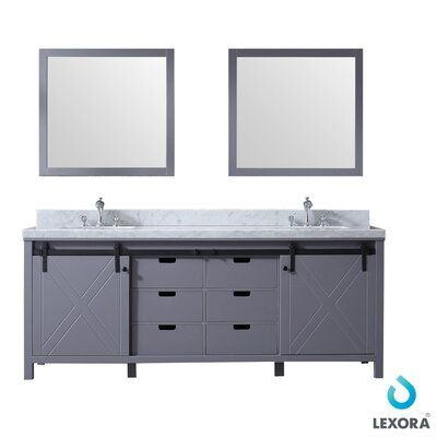 Gracie Oaks Schmidt 84 Double Bathroom Vanity Base Only With