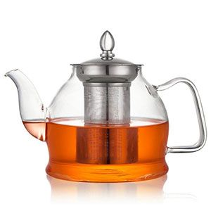 2 Hiware Glass Teapot With Removable Infuser 1000ml Glass