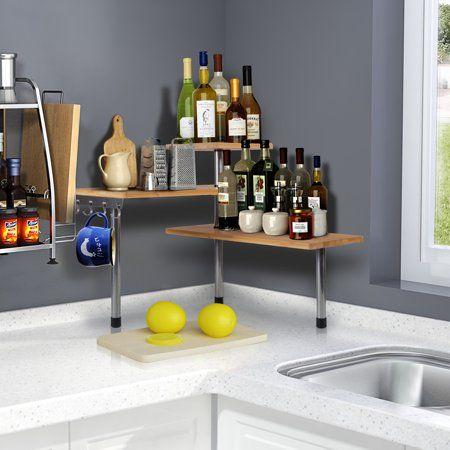 Home Corner Shelving Unit Corner Shelves Kitchen Storage